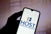 Host Hotels and Resorts logo seen displayed on a smartphone