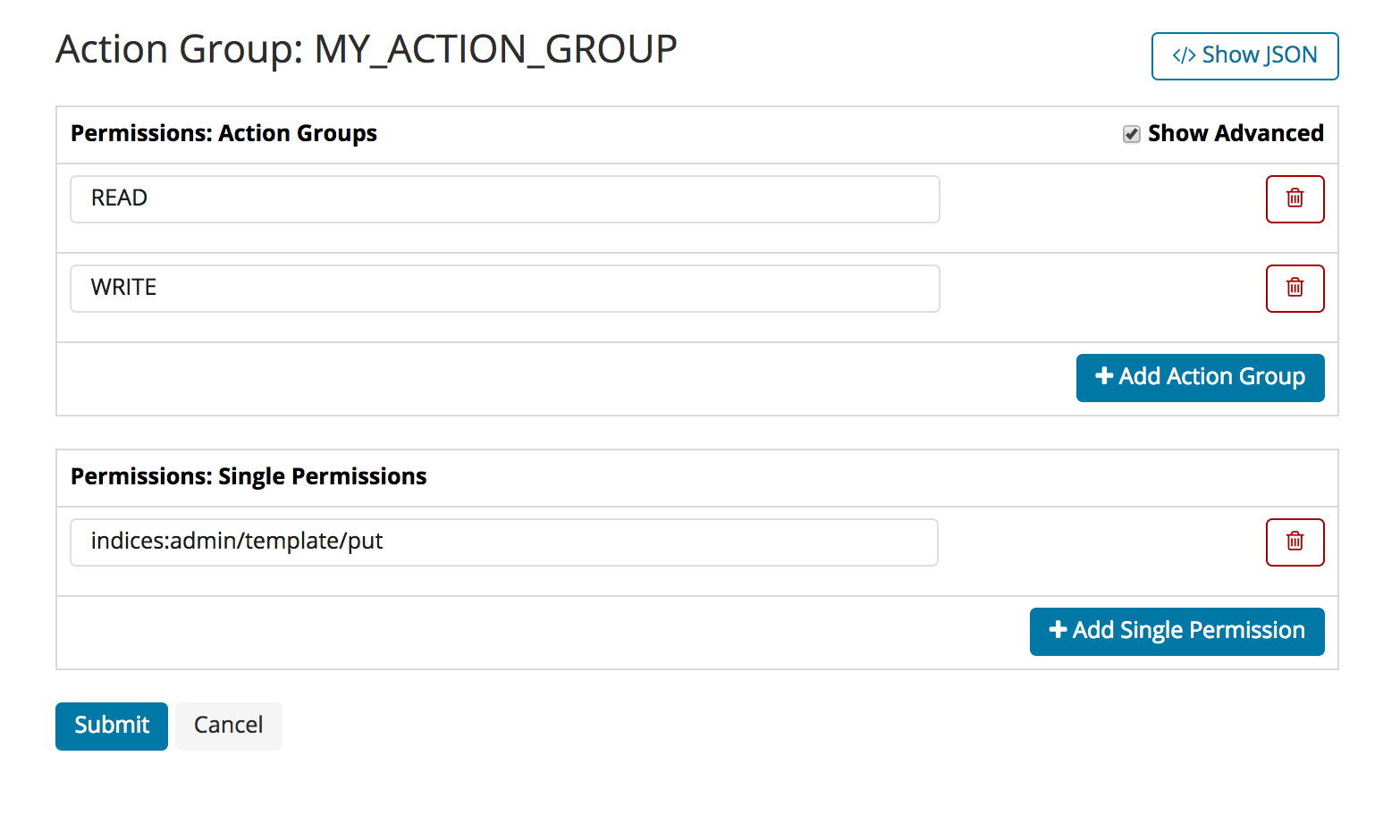 editing action groups