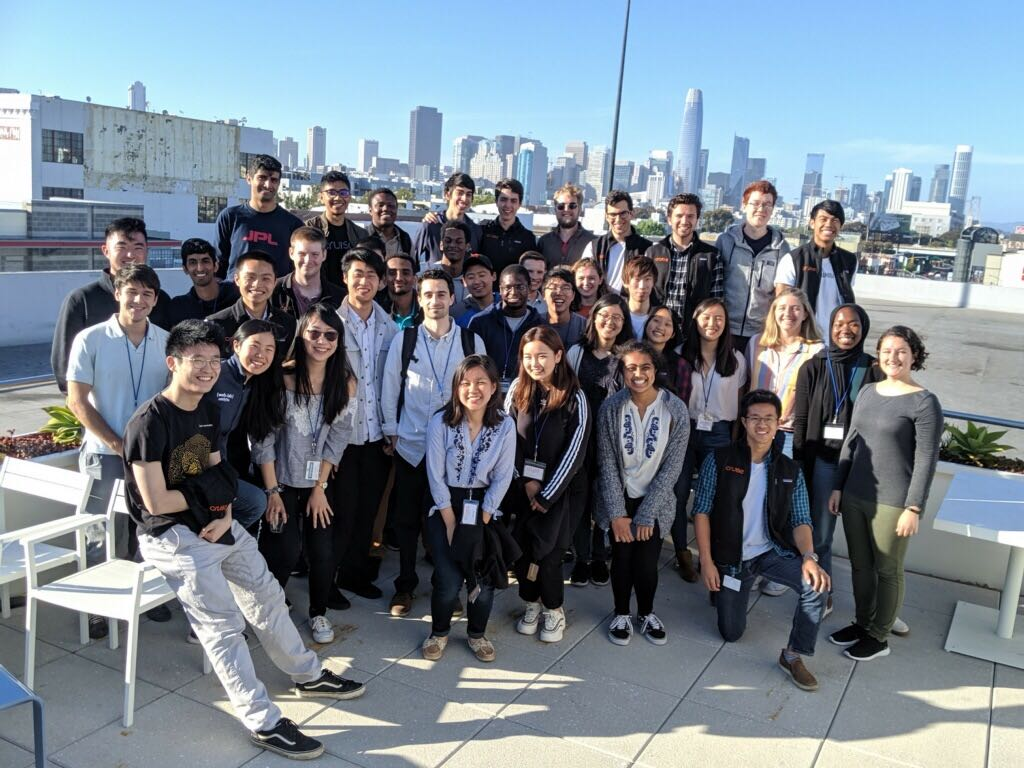 Rooftop class photo