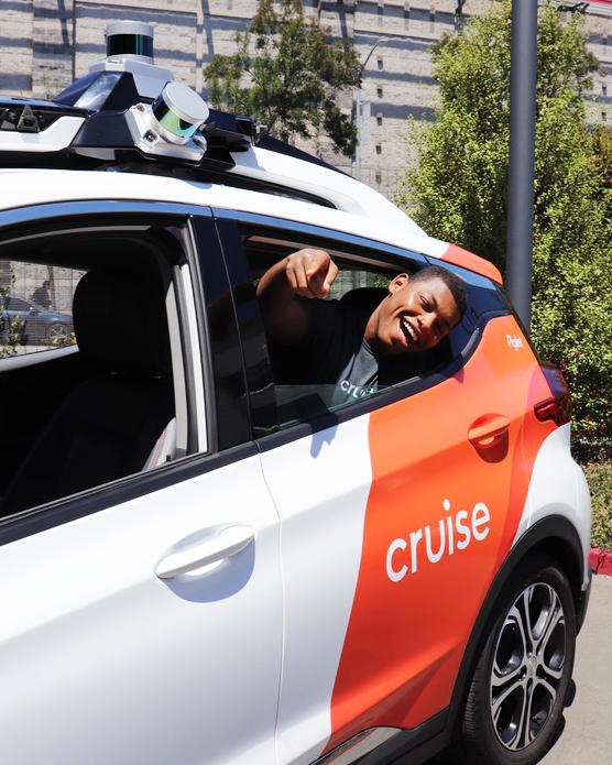 Sean in a Cruise car