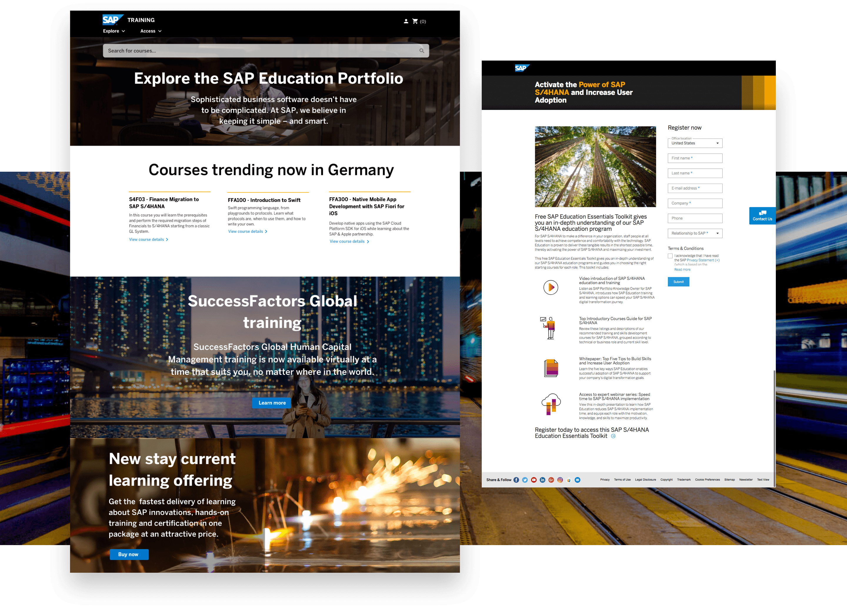 SAP website imagery
