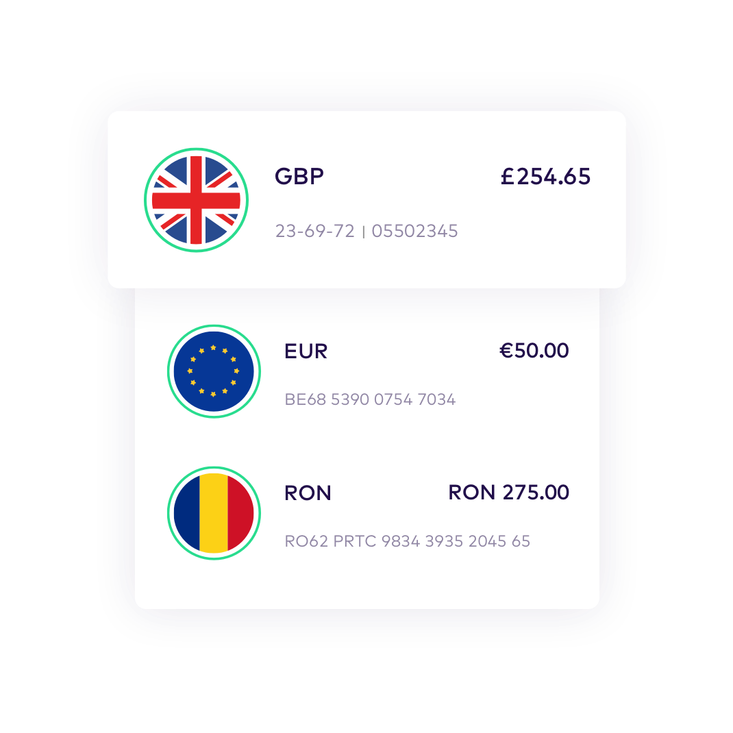 EN Instant accounts > Spend, send and save like a local GBP