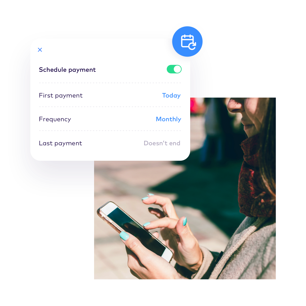 EN Payments > Set up recurring payments