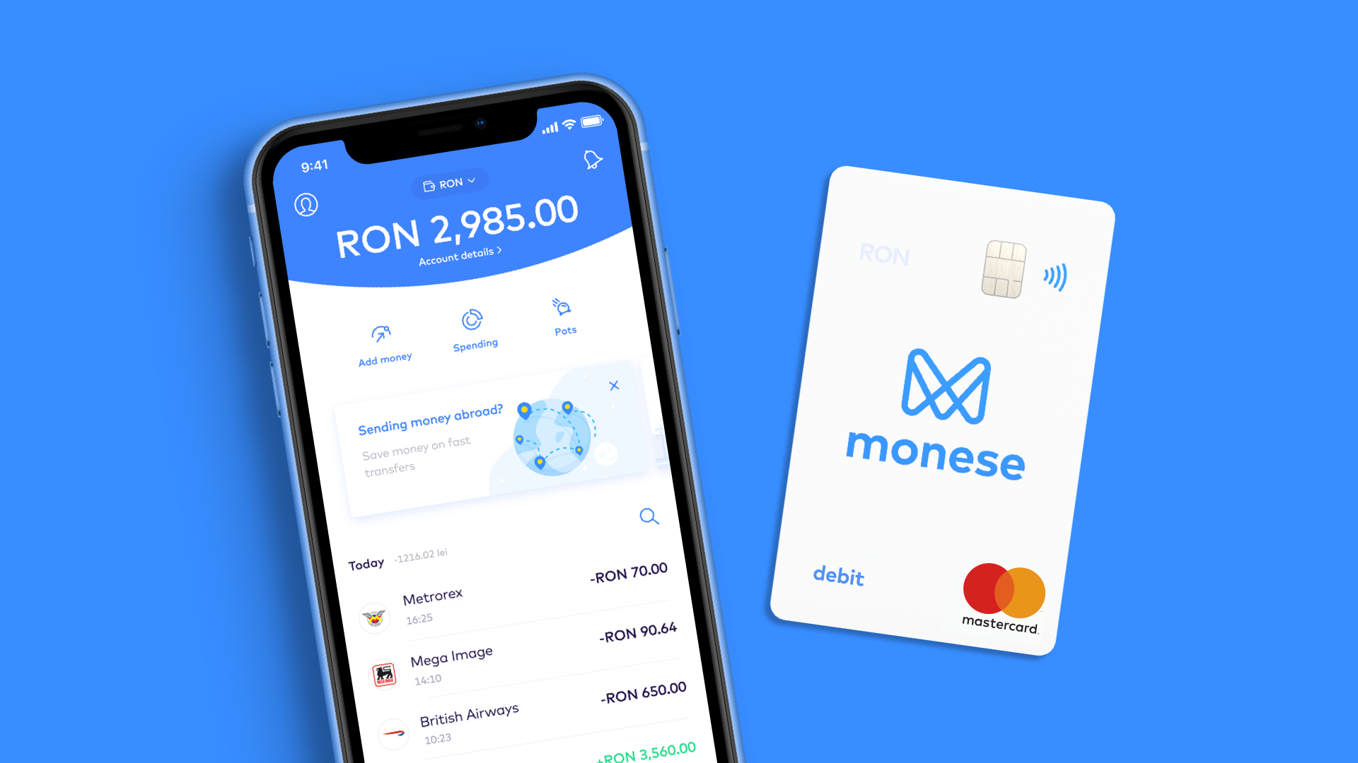 RON account app and card