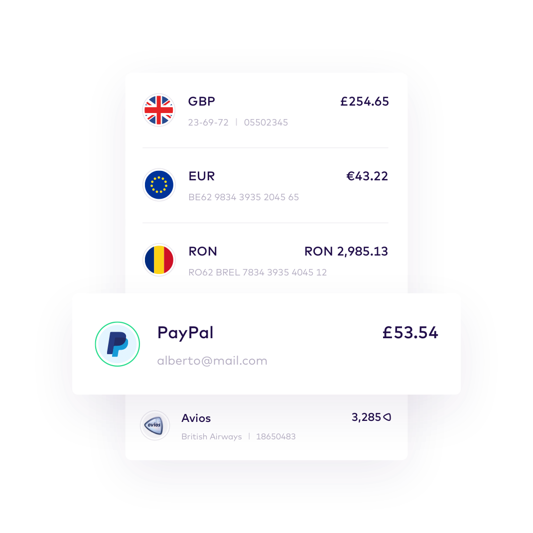 EN PayPal > All your accounts in one app