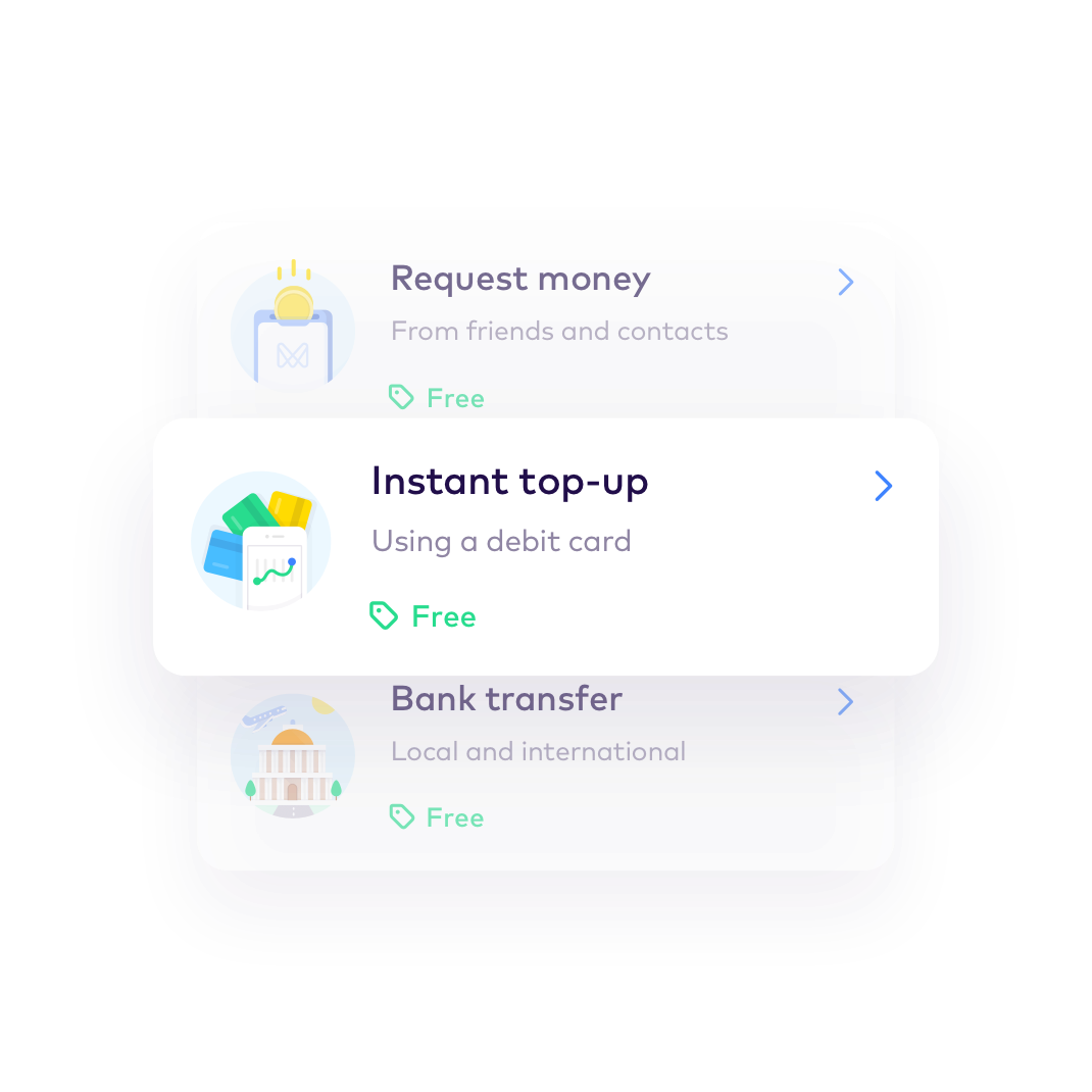 EN Add money > Top up instantly (Global)