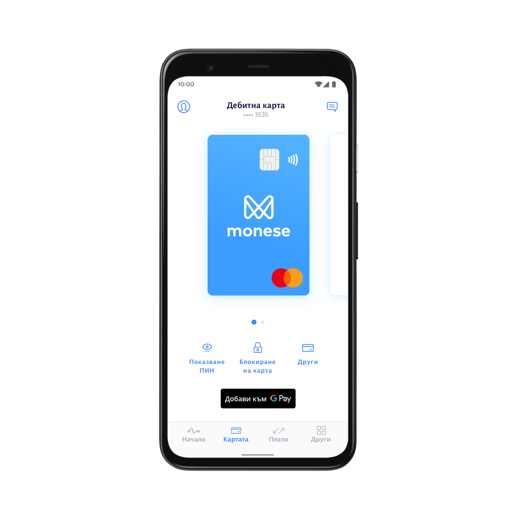 BG Set up Google Pay with Monese