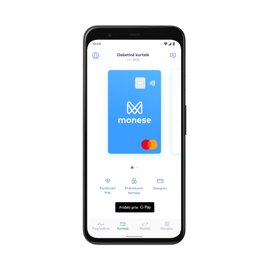 LT Set up Google Pay with Monese