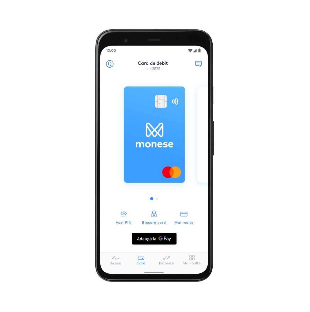 RO Set up Google Pay with Monese