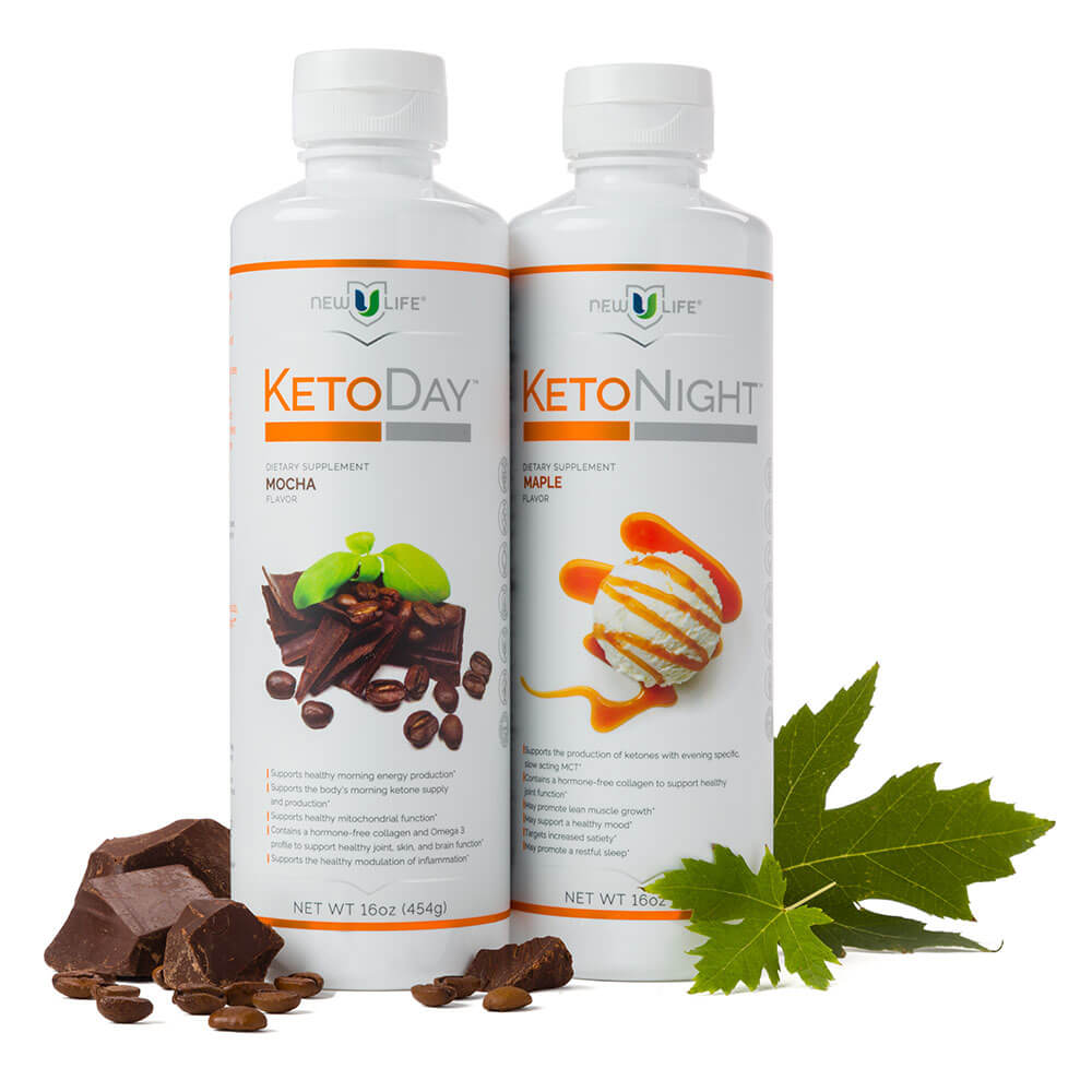 Image of bottles of KetoDay and KetoNight