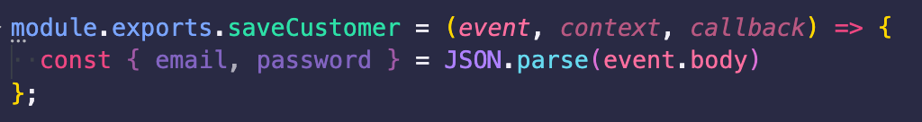 pulling properties from event object