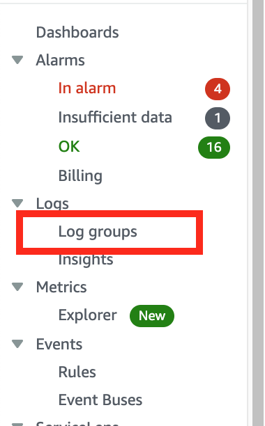 logs groups