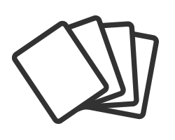 following through cards