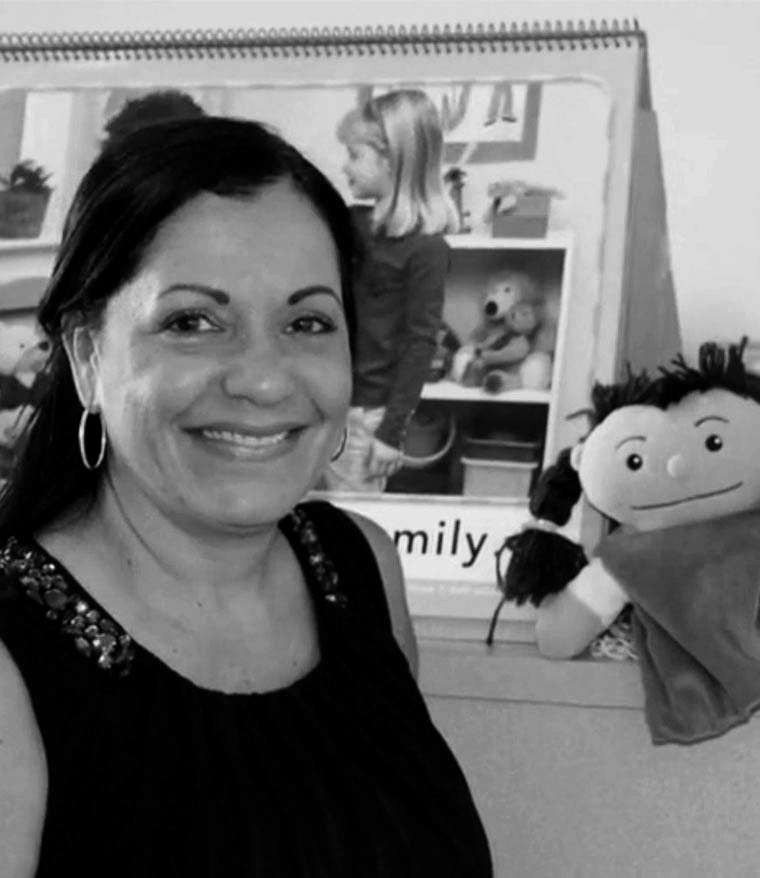 teacher with puppet