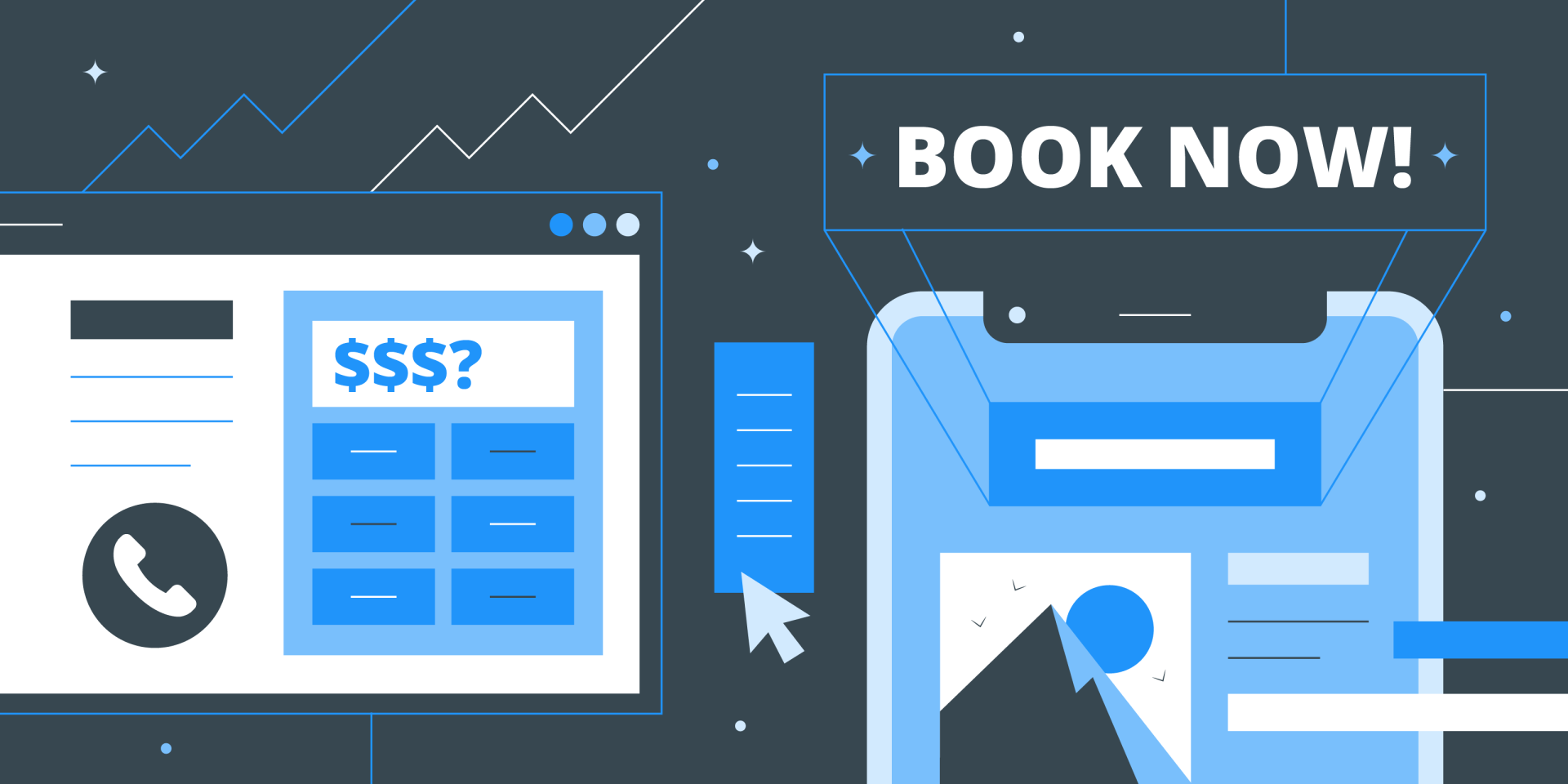 header image for online booking web site feature study