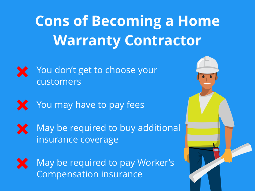 cons of becoming a home warranty contractor