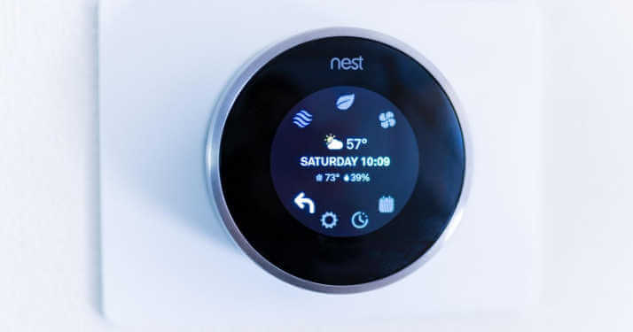 A Nest on a wall is new HVAC technology in 2020