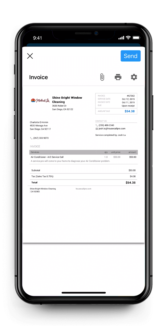 iPhone - Invoicing