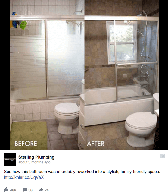 before and after plumbing ad example
