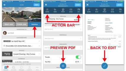 Improved Invoice preview on iOS