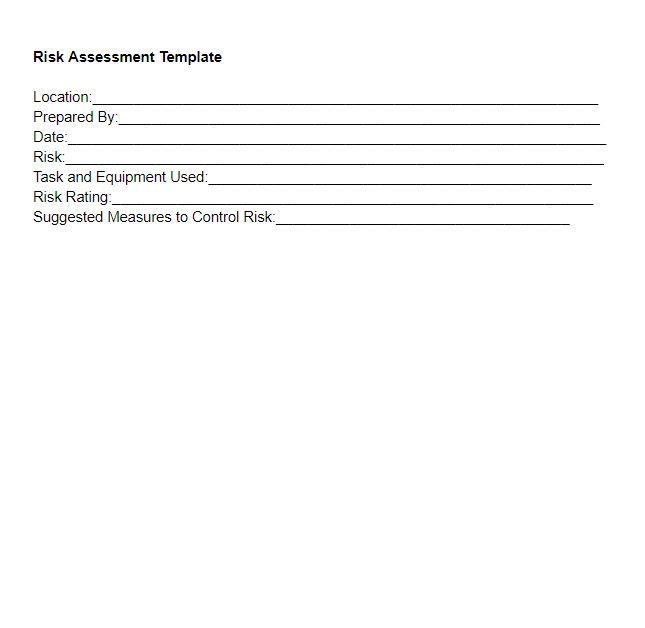 Risk Assessment Template
