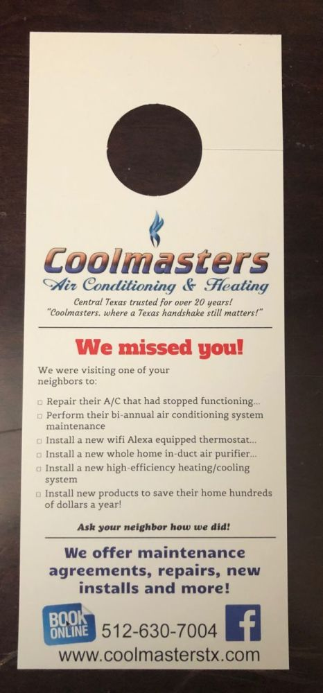 HVAC door hanging can be an effective marketing strategy
