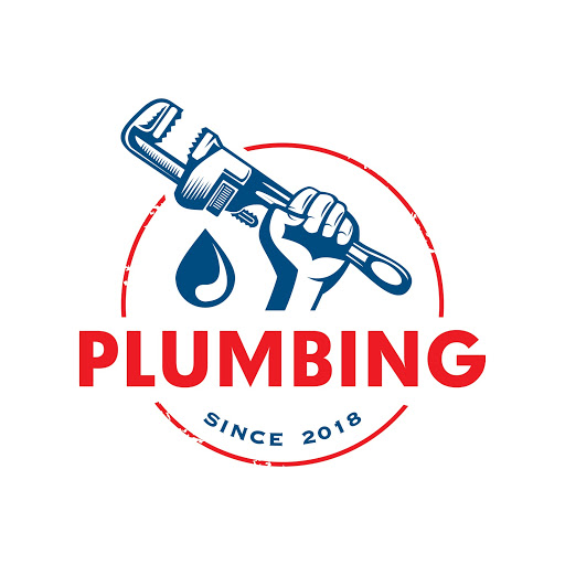 Plumbing logo with wrench