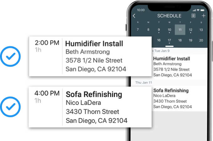 Housecall Pro humidifier scheduling image