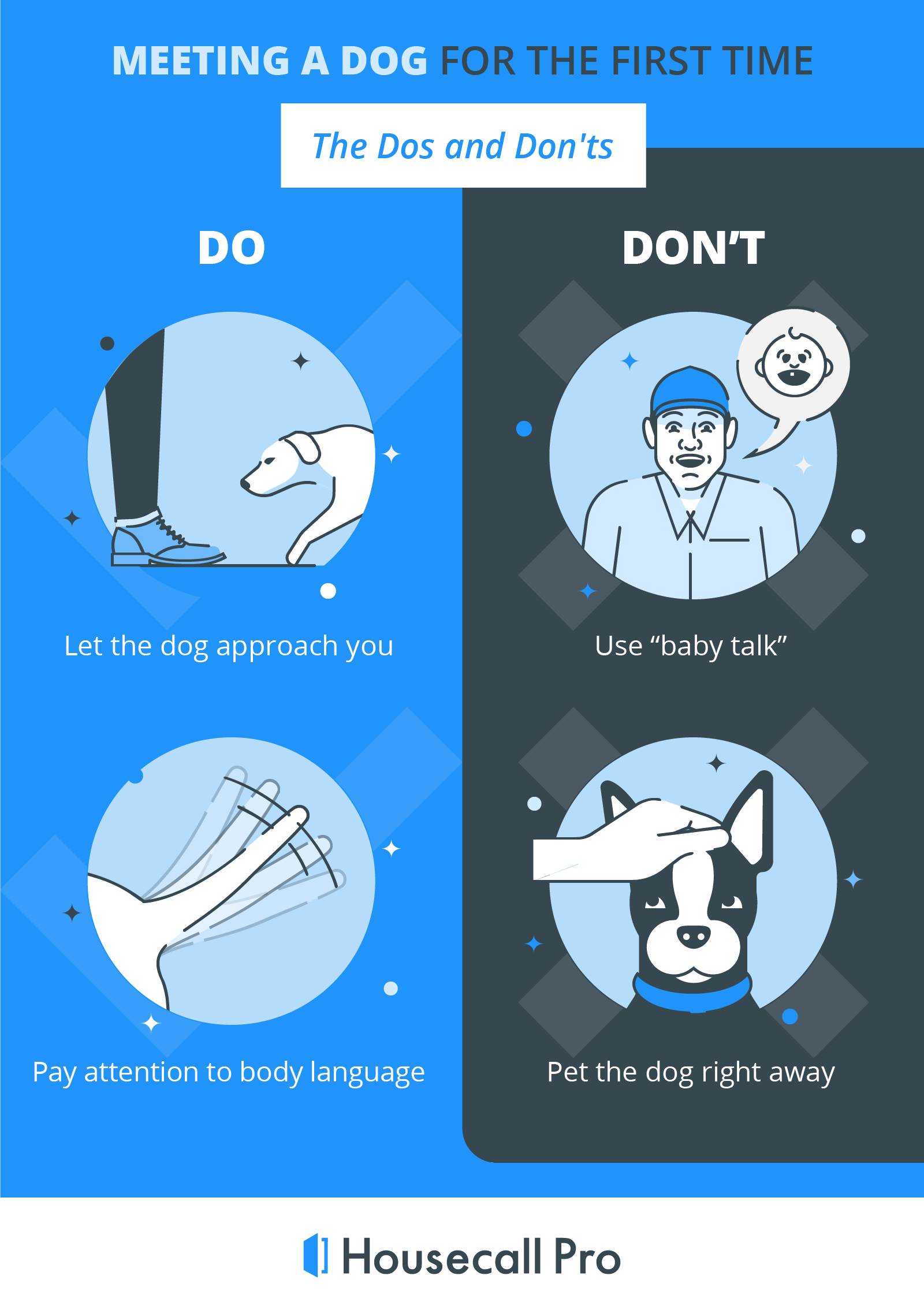 the do's and don'ts for introducing a dog to a visitor or service provider