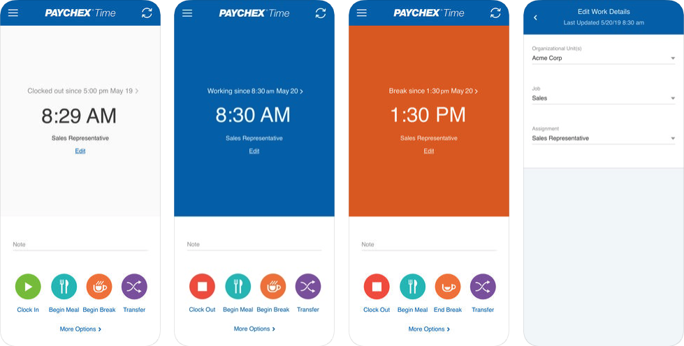 paychex Screen Shot