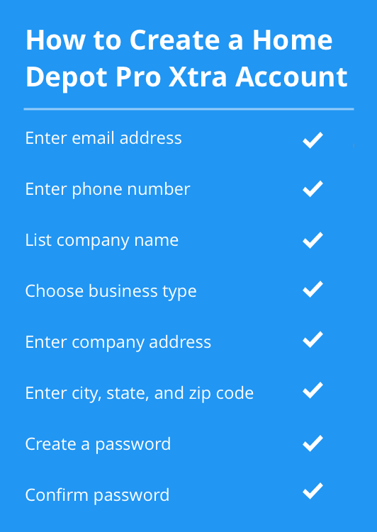 home depot pro xtra account