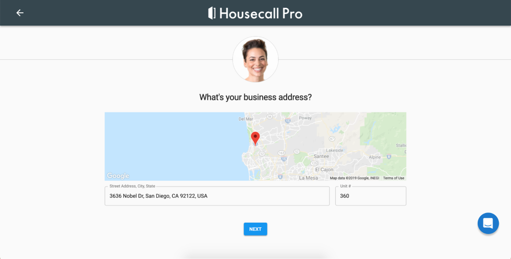 What is your business address on Housecall Pro