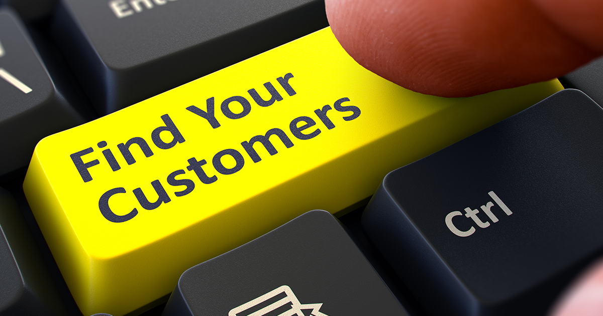 Find your customers keyboard button