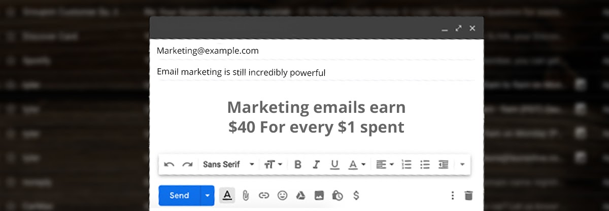 plumbing email marketing example