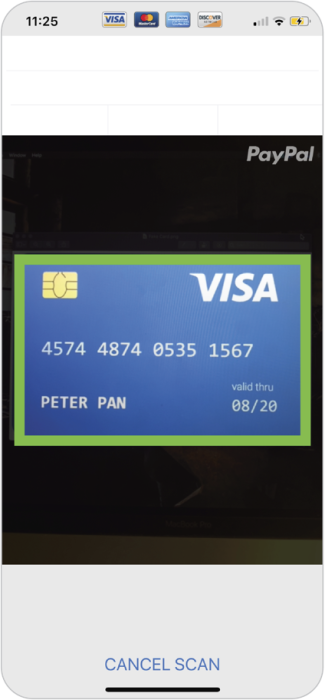 Credit card page in Housecall Pro app