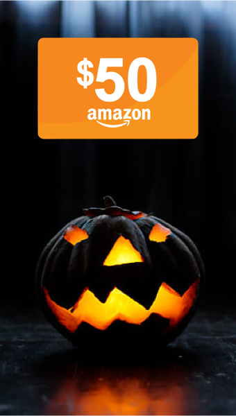Halloween Pumpkin and Amazon Gift Card Image