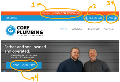 core plumbing website