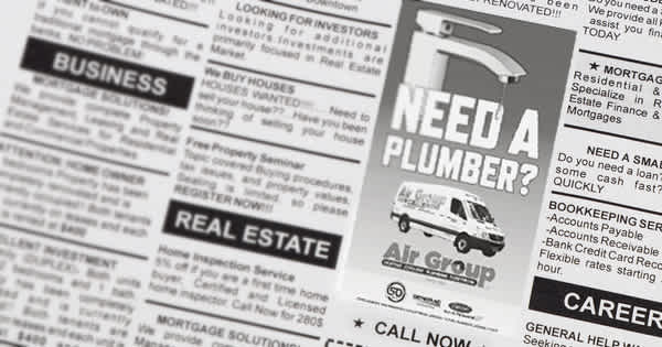 An effective plumbing ad can make a difference