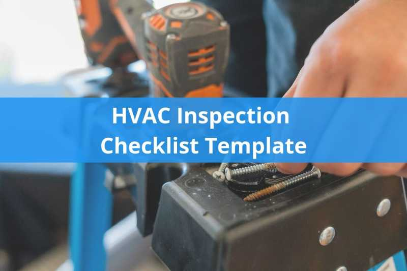 HVAC Inspection Checklist Template | Housecall Pro | Hvac Drawing Checklist |  | Housecall Pro