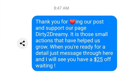 dirty2dreamy facebook reply