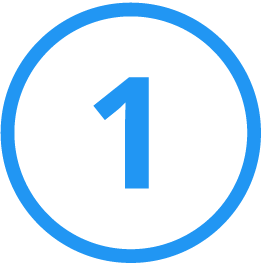 Outlined circle 1 icon