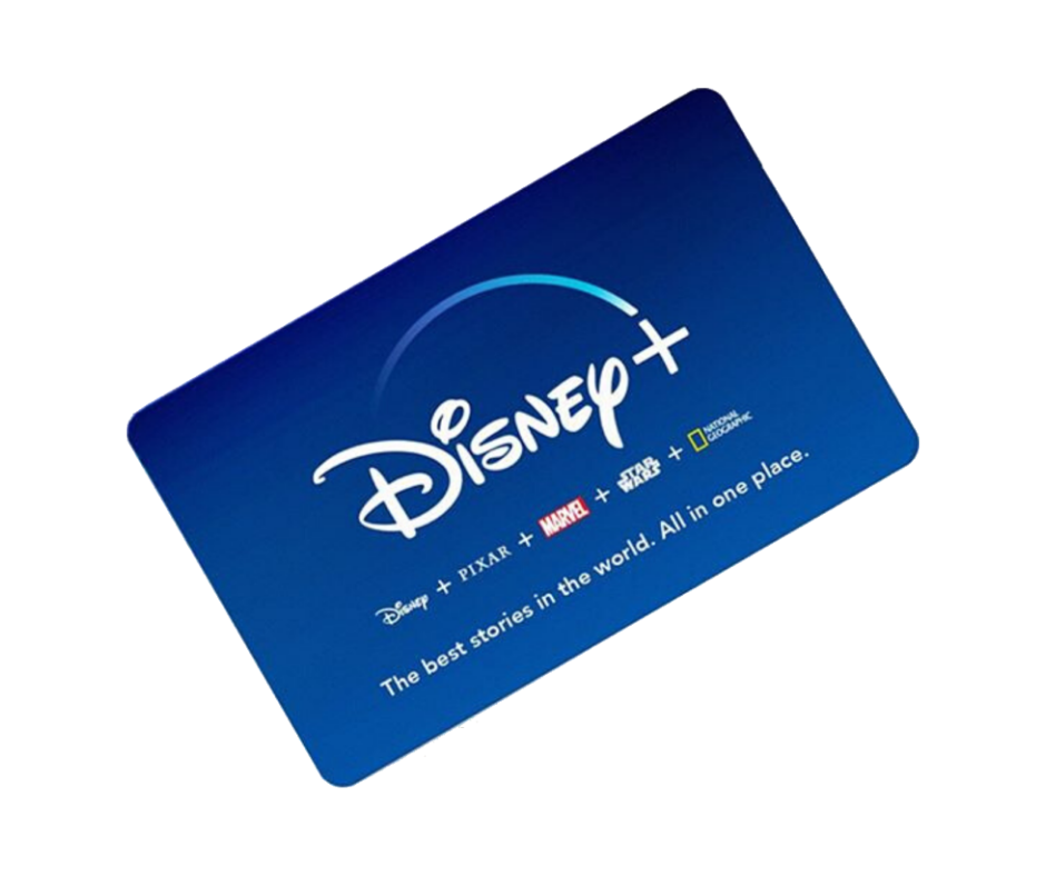 image of disney+ gift card