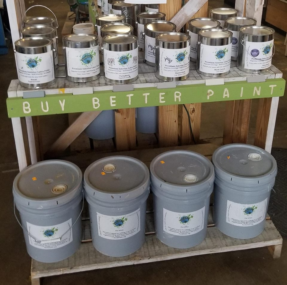 earth paint latex paint recycling