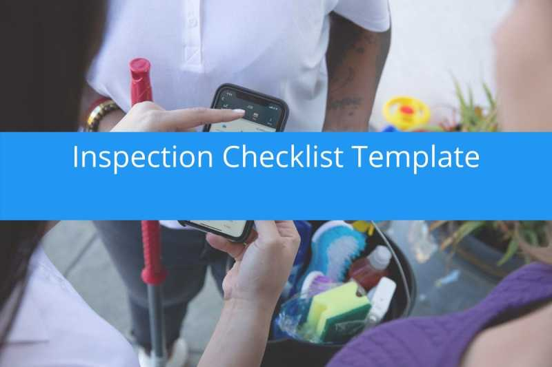 Inspection Checklist Template Free Download Housecall Pro