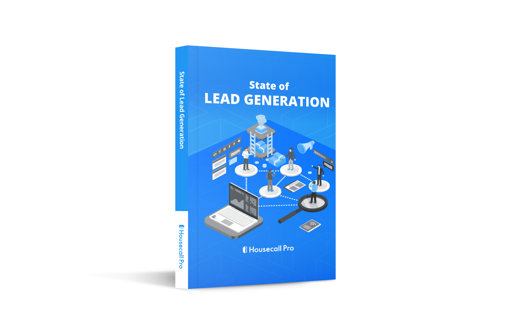 State of lead generation report ebook cover photo