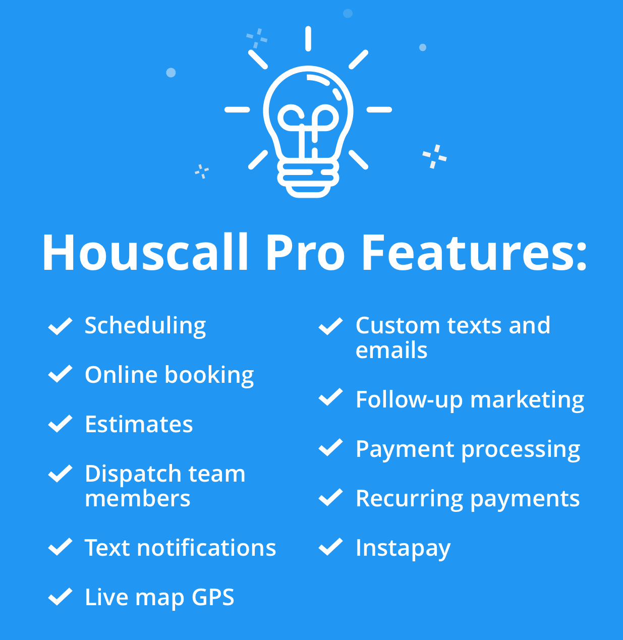 housecall pro features