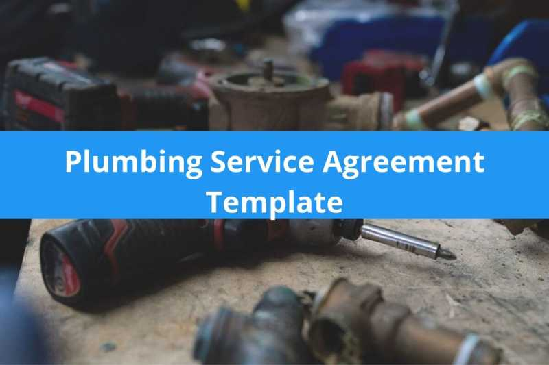 Plumbing Service Agreement Template Free Download