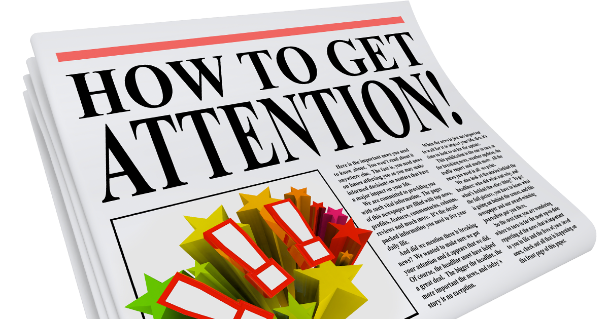 Newspaper article on how to get free attention