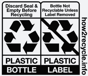 Plastic Bottle Recycling Label
