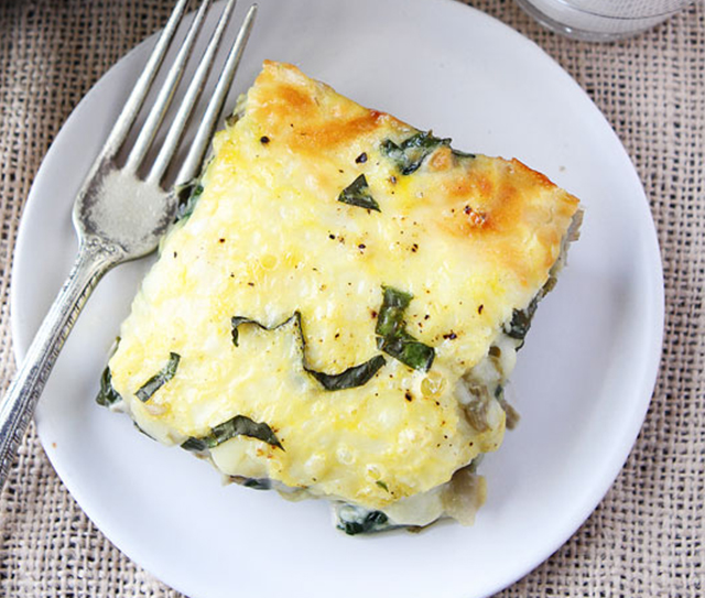 Spinach and Artichoke Egg Casserole